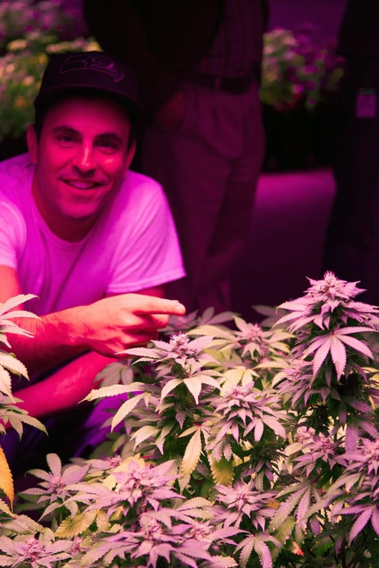 Main Street Marijuana manager Ramsey Hamide visited Longview grower Urban Farms recently.