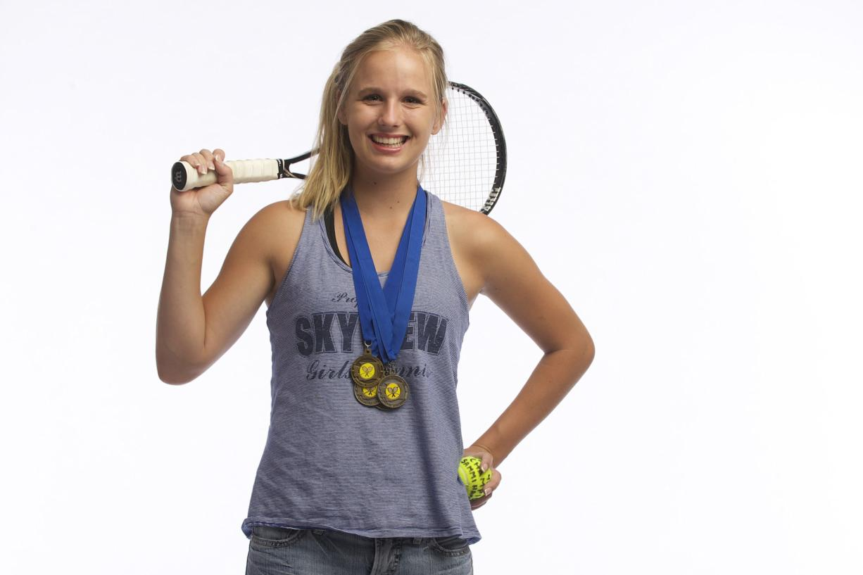 Sammi Hampton is our All-Region girls tennis player of the year after winning her fourth state title.