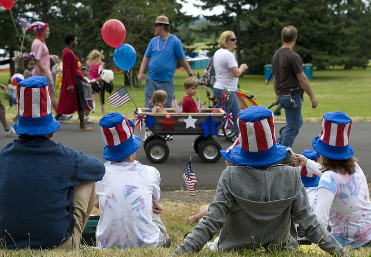 Children 12 and younger were free for this years Independence Day celebration at Fort Vancouver, but organizers estimate that at least 15,000 attended with some 20,000 adults.