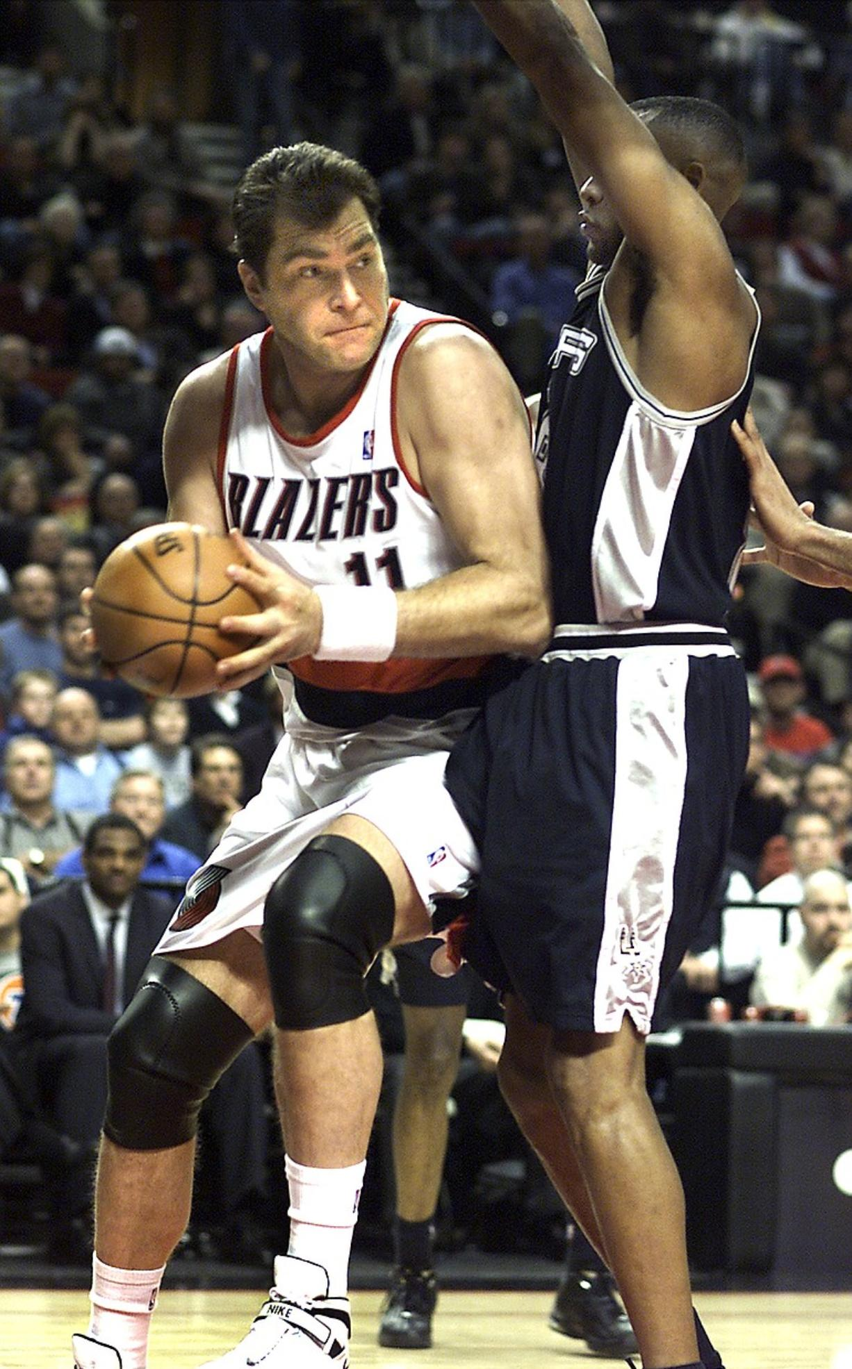 Blazers center Arvydas Sabonis, pictured here in 2003, was elected to the Naismith Memorial Basketball Hall of Fame's Class of 2011.