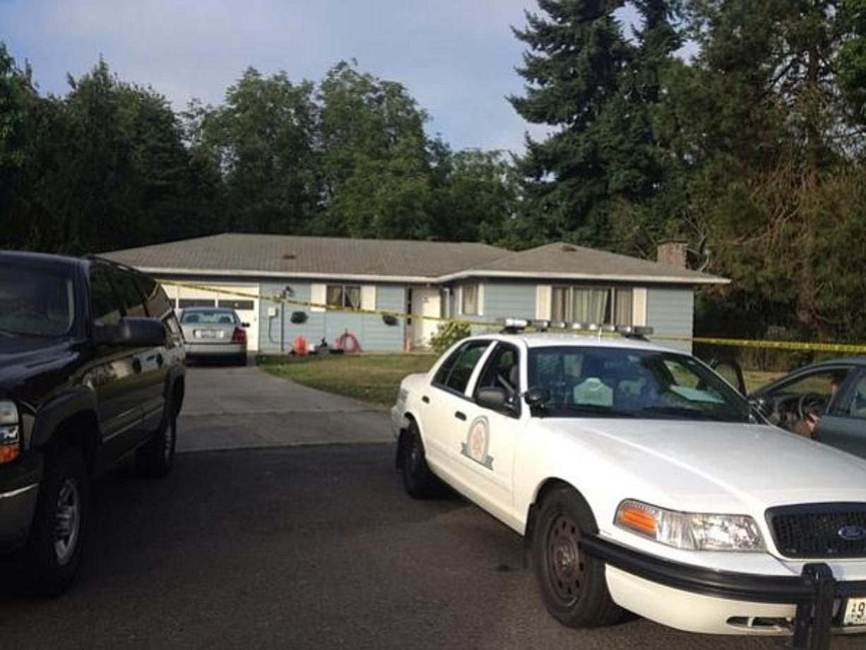 Sheriff's deputies are investigating what they believe was a domestic violence homicide at this Hazel Dell home late Tuesday.