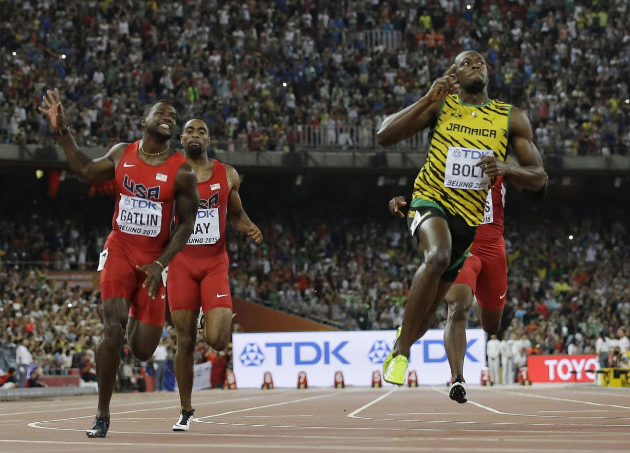 Bolt beats Gatlin for gold in 100 meters - Columbian.com