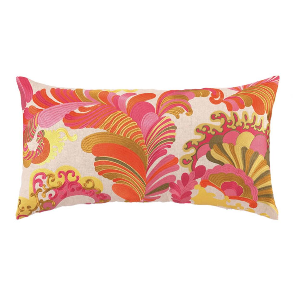 Wayfair.com Trina Turk's '70s-style print linen pillow that hits the Pop Art mark and makes a great accent for those wanting to add a touch or two of the decor style to their spaces.