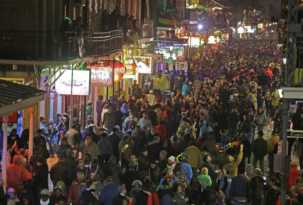 Ociated Press Files Revelers Pack The French Quarter During Mardi Gras In 2017 As Seen