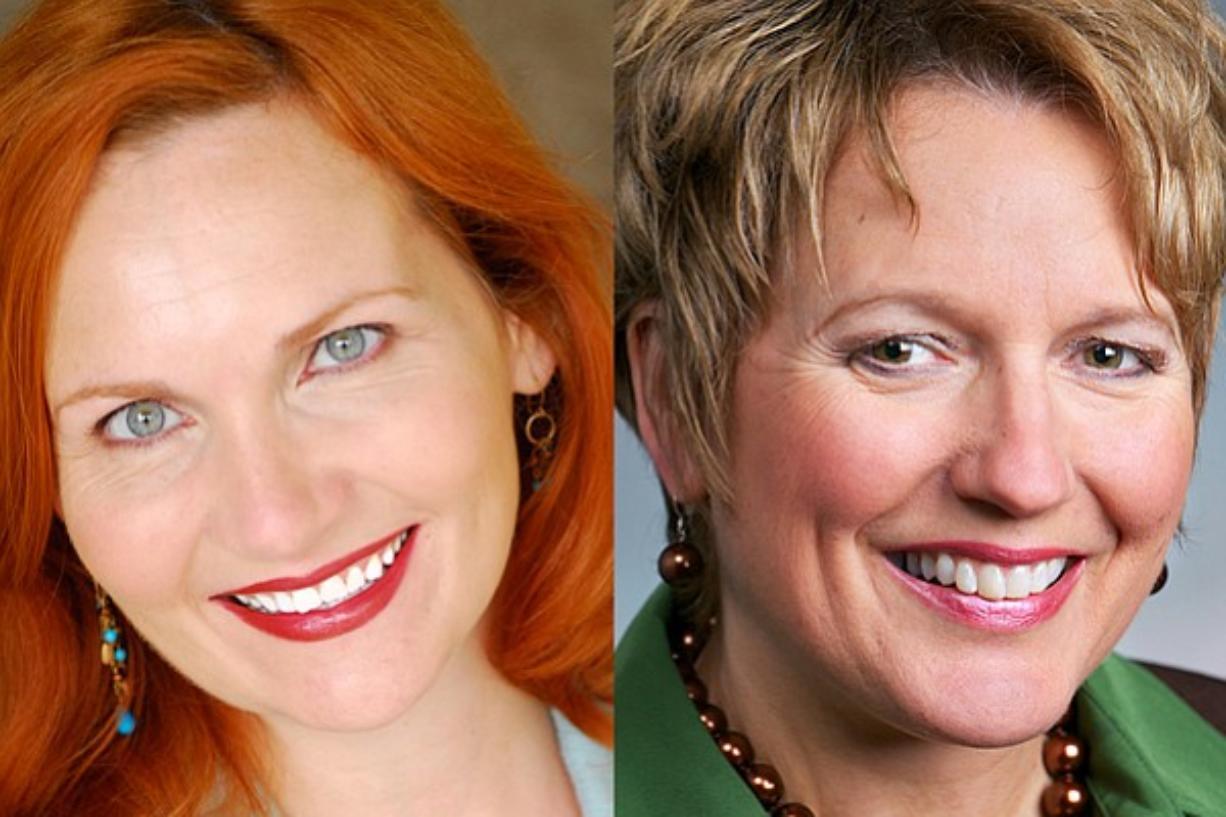 Democrat Maureen Winningham of Vancouver, left, is challenging state Rep. Liz Pike, R-Camas, for the second House seat in the 18th District.