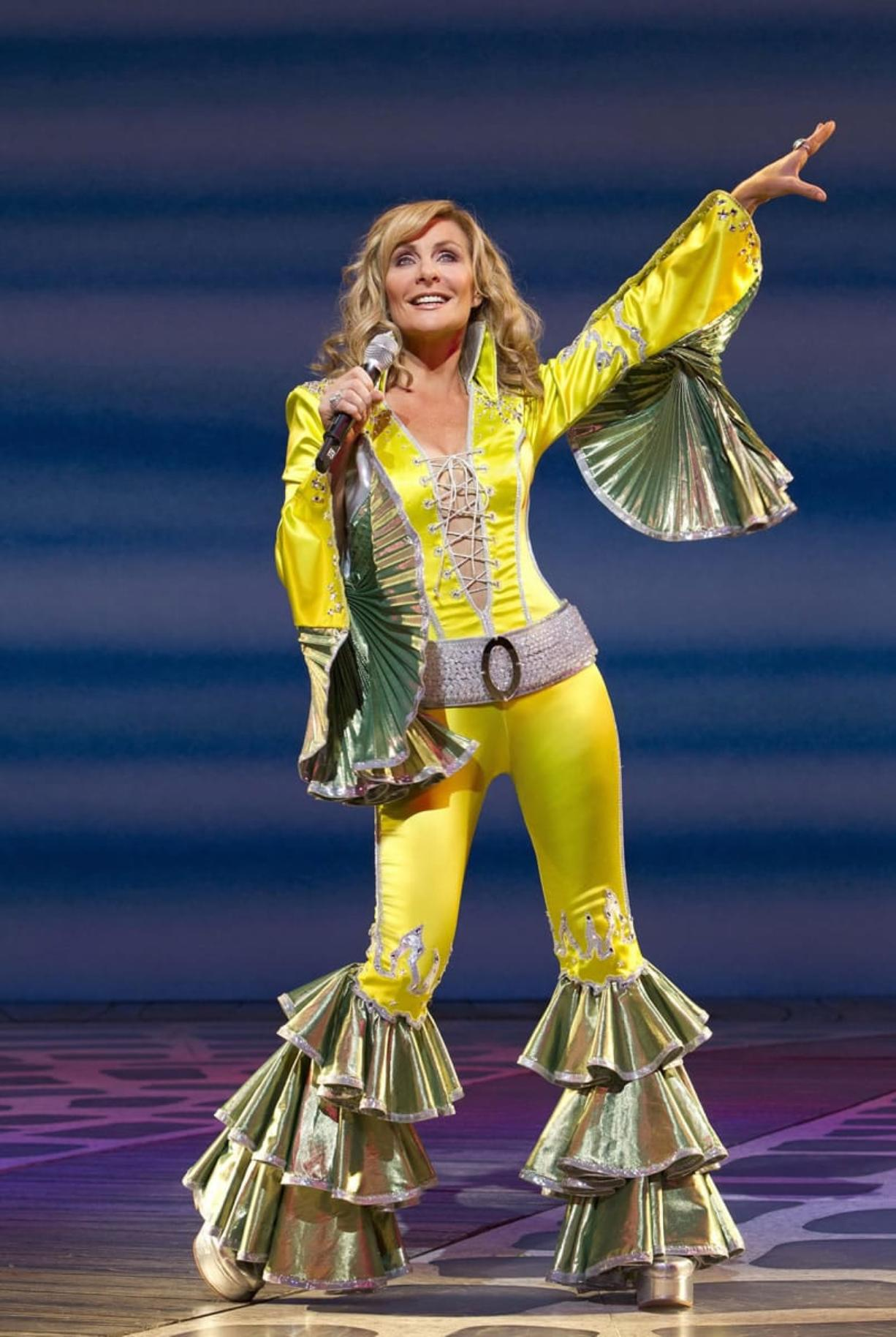 """Judy McLane appears during a performance of the musical """"Mamma Mia!"""" On Sept."""
