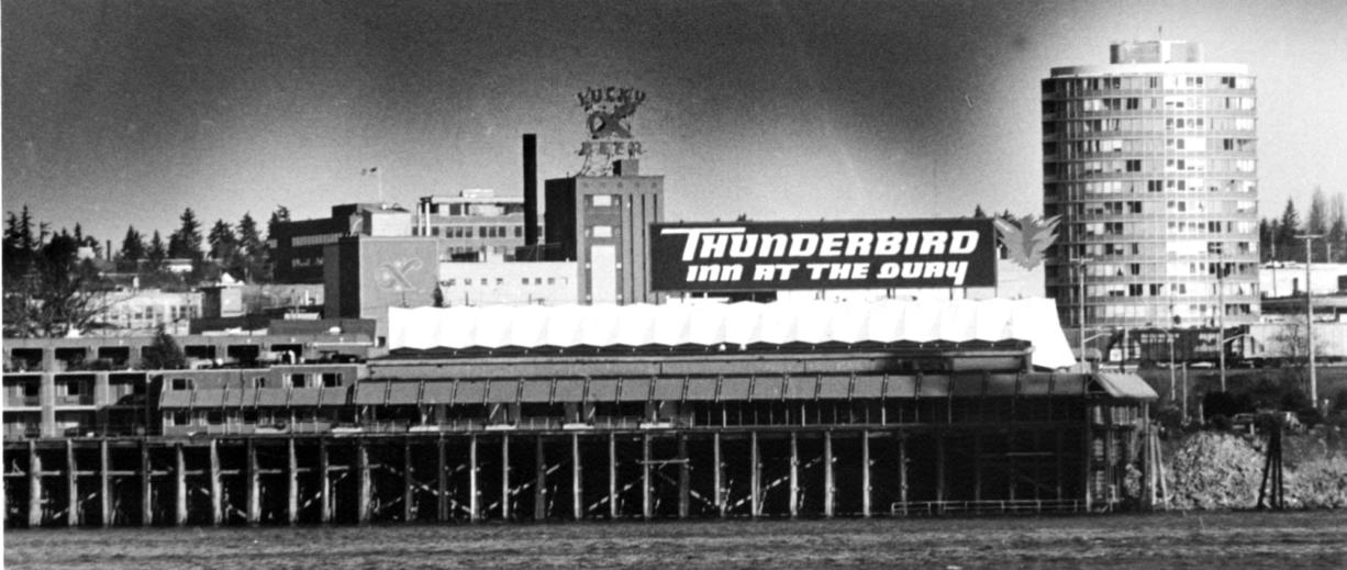 The Red Lion at the Quay, then the Thunderbird at the Quay, in 1984.
