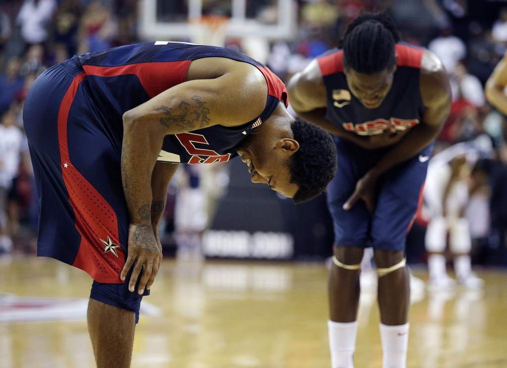 bb5a589c8db Paul George suffers serious leg injury in U.S. exhibition