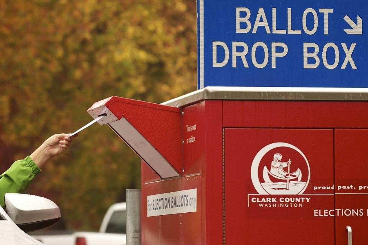 Voters can use a drive-up collection box near the Clark County Elections Office, 1408 Franklin St.
