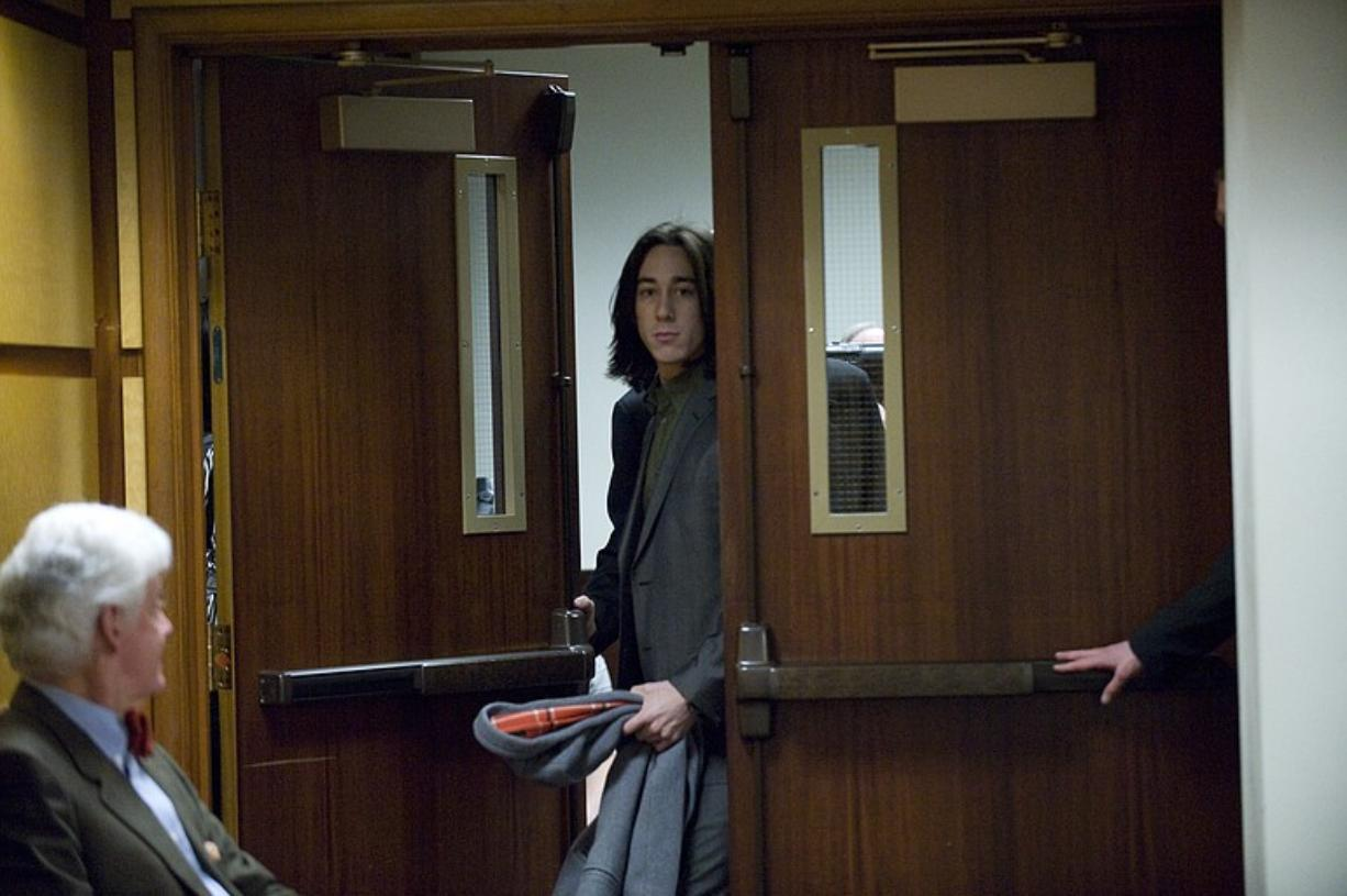 San Francisco Giants pitcher Tim Lincecum appears in Clark County District Court on Tuesday morning.
