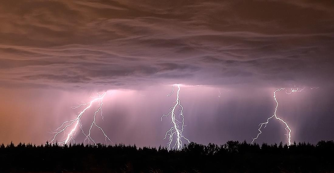 Photographer Rick Lundh captured lightning near Ridgefield on Thursday, July 31, 2014.