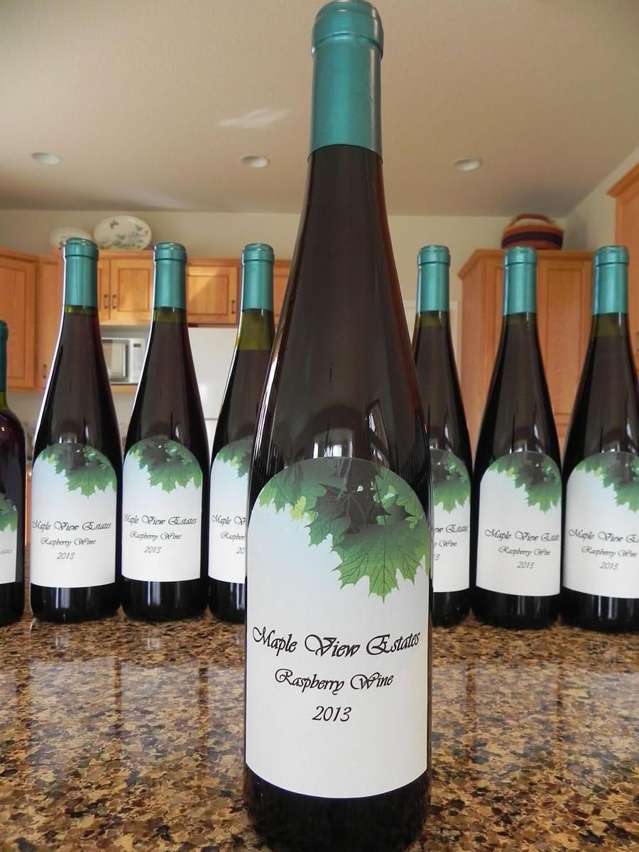 for September photos, Raspberry wine I bottled in 2013 from our own berries. Clark holcomb