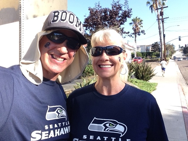 Go Team Go!! We traveled all the way to San Diego to support our Hawks!!