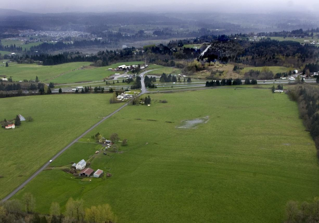 The Cowlitz Tribe plans to build a casino on this site near La Center, west of Interstate 5.