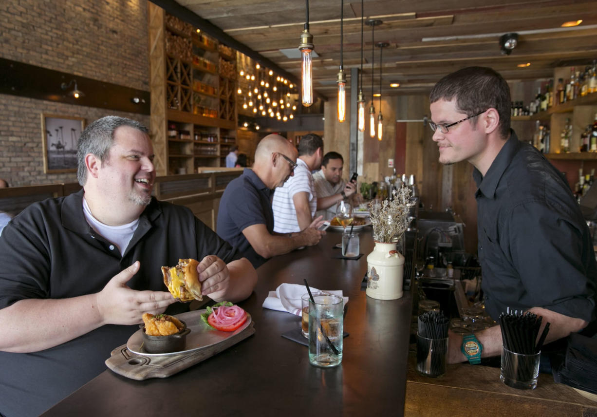 Sef Gonzalez of Miami runs the blog Burger Beast. Gonzalez says the Swine Burger at Swine Southern Table & Bar in Coral Gables, Fla., is the best in Miami-Dade County.