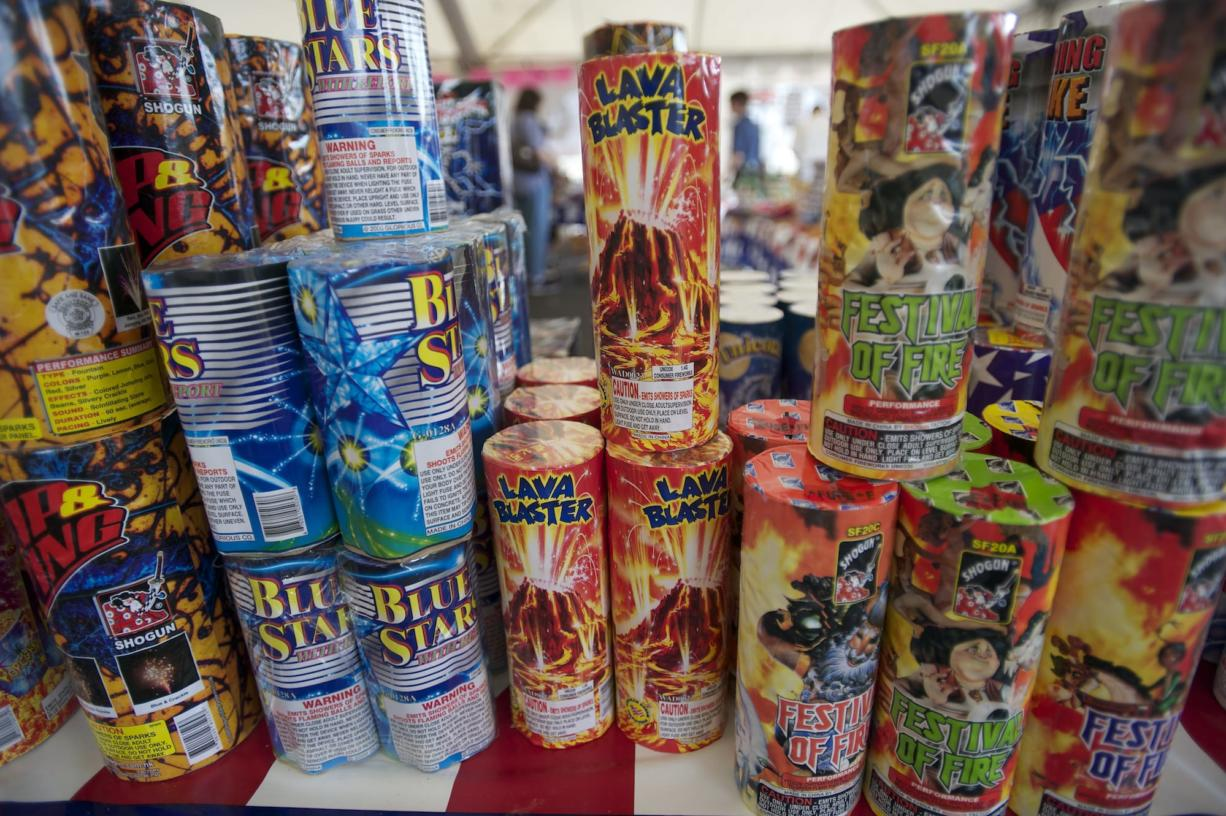 Fireworks are for sale at a stand in Vancouver in 2012.