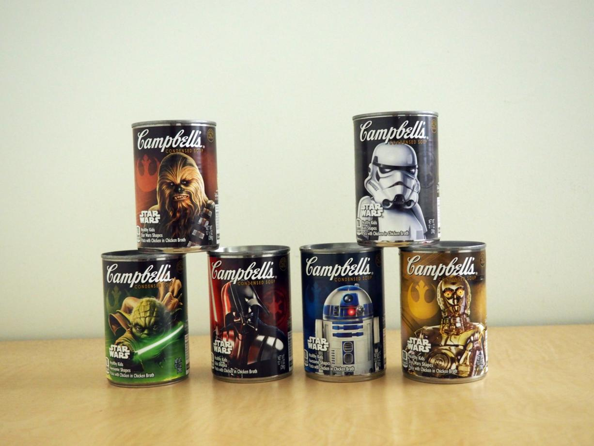 "Campbell's has limited-edition ""Star Wars"" chicken noodle soup."