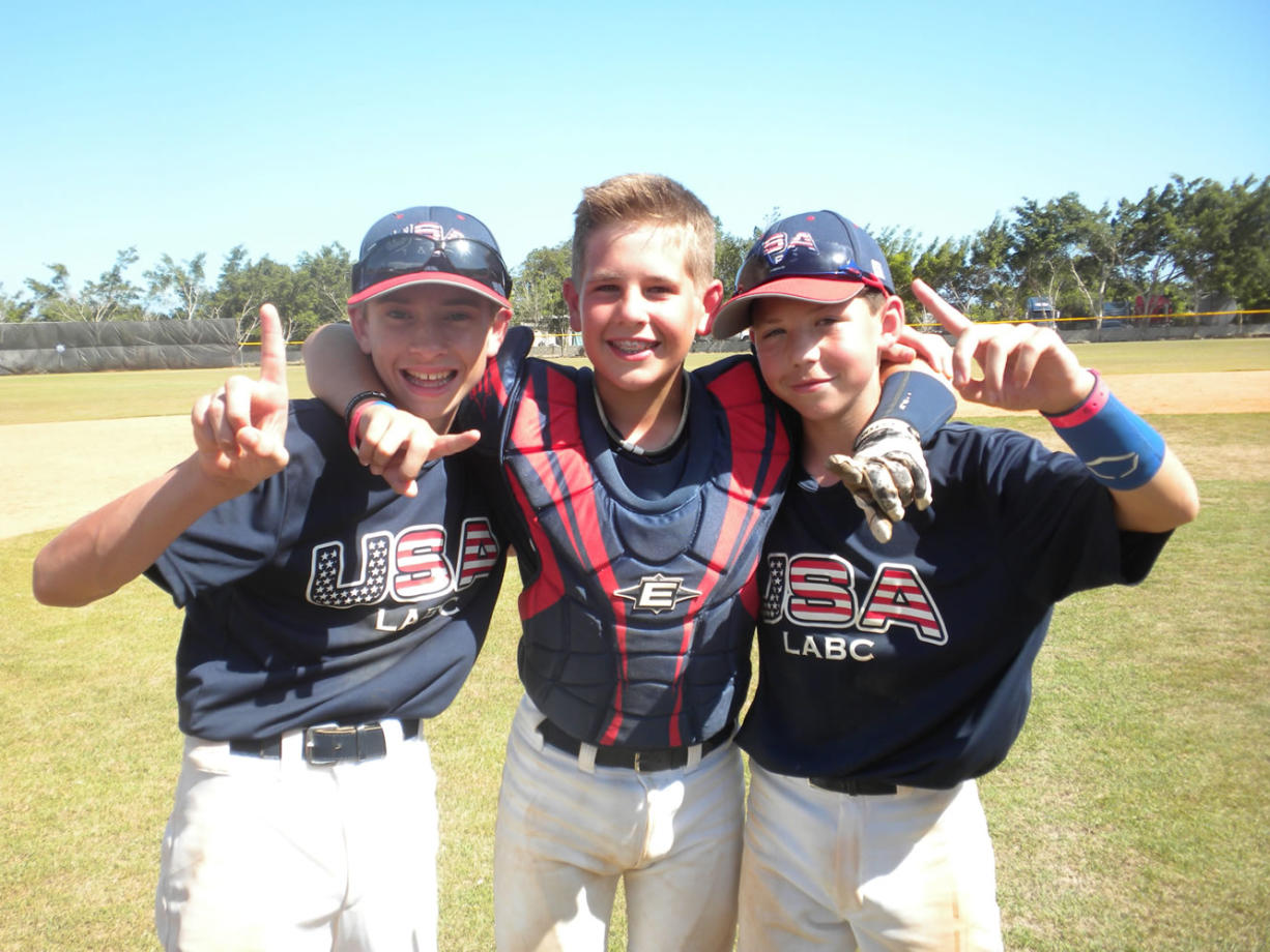 Ethan Bausch, Dylan Buhrmester and Brady Majewski.