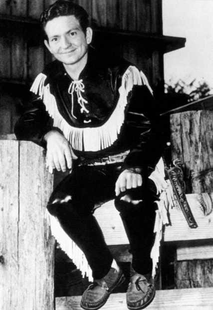 """Legendary singer/songwriter Willie Nelson poses in 1957 as """"Texas Willie"""" for a publicity photo that was used to promote his """"Western Express"""" radio show on KVAN in Vancouver."""