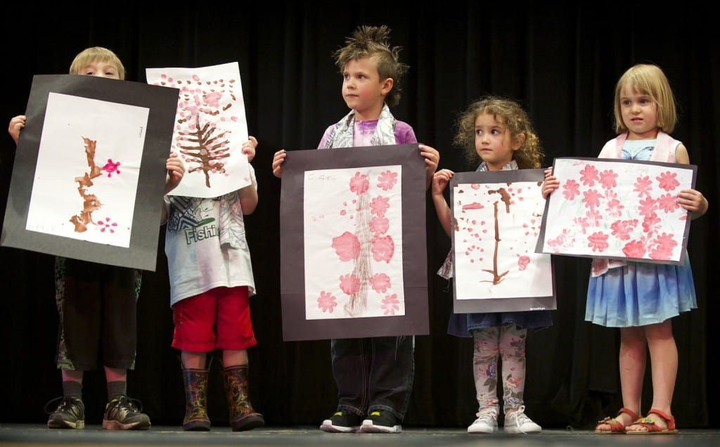 70ac626231f Preschoolers enrolled in the Clark College Early Childhood program present  their art work at the 10t