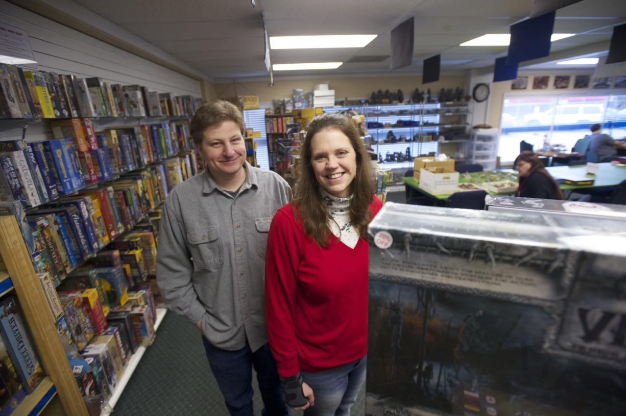 Roy Starkweather and his wife, Lisa Starkweather, own and operate Dice Age Games, a gaming and hobby supply shop. They opened the store nearly three years ago at 5107 E. Fourth Plain Blvd.