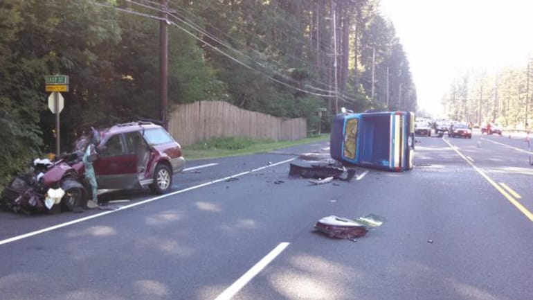 Driver in crash that seriously injured B G  man arrested | The Columbian
