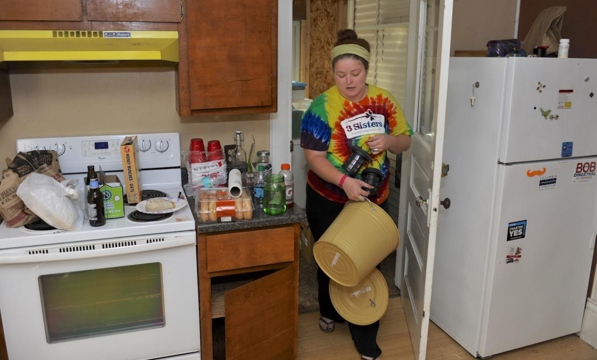 Audrey Miller moves from her rental house Aug. 23 in Vancouver. Miller and her roommate, Melissa Boles, struggled to find affordable housing in the area after their landlord sold their house.