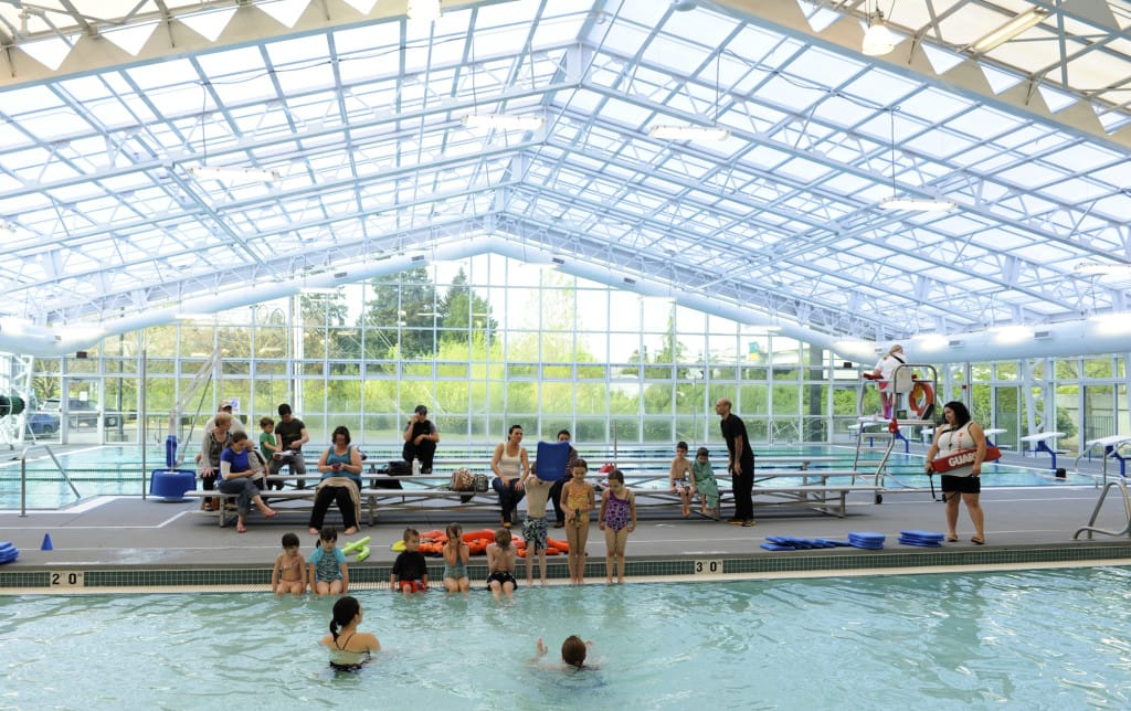 Children Enjoy The Upgraded Rec Pool At Clark County Family Ymca Facility Held