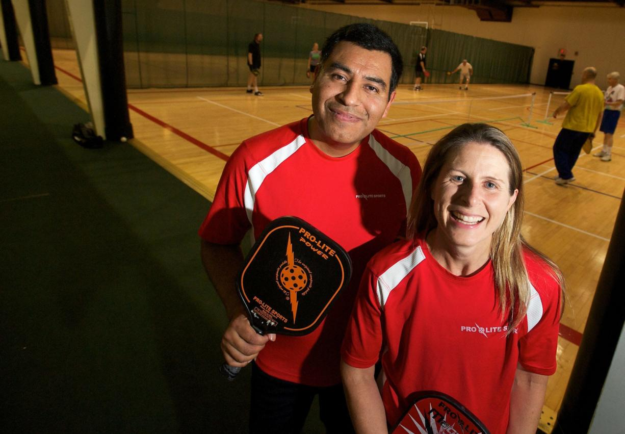 Enrique Ruiz of Washougal and Christine Barksdale of Vancouver are nationally ranked pickleball champions.