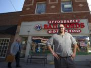 Affordable Bail Bonds Manager Jeremy Hubbard stands outside his business Aug.