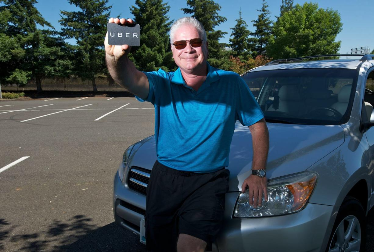Uber driver Eric Hansen of Vancouver is one of the first drivers for Uber Vancouver, a ride-sharing system recently launched in the city.