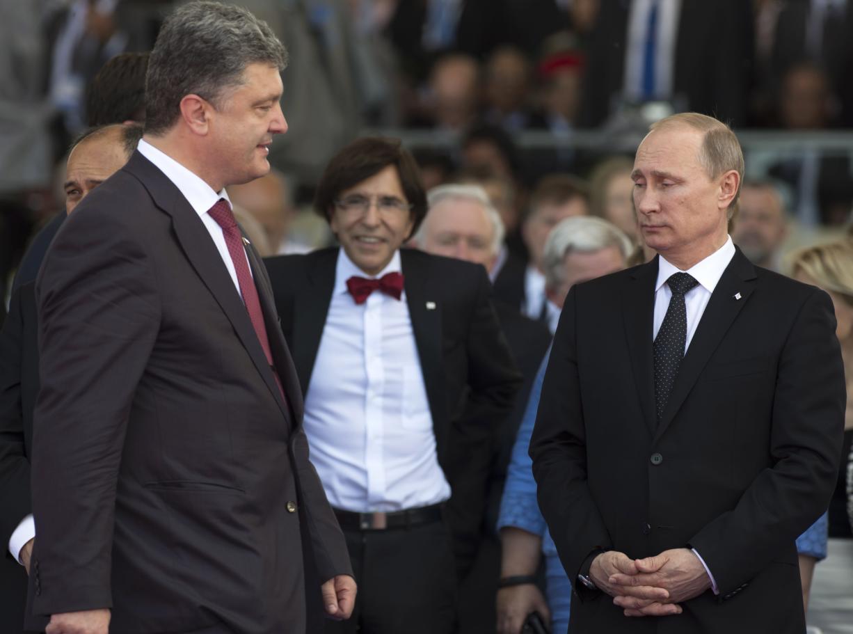 Russian Ukrainian Leaders Talk Amid D Day Pomp Columbian Com