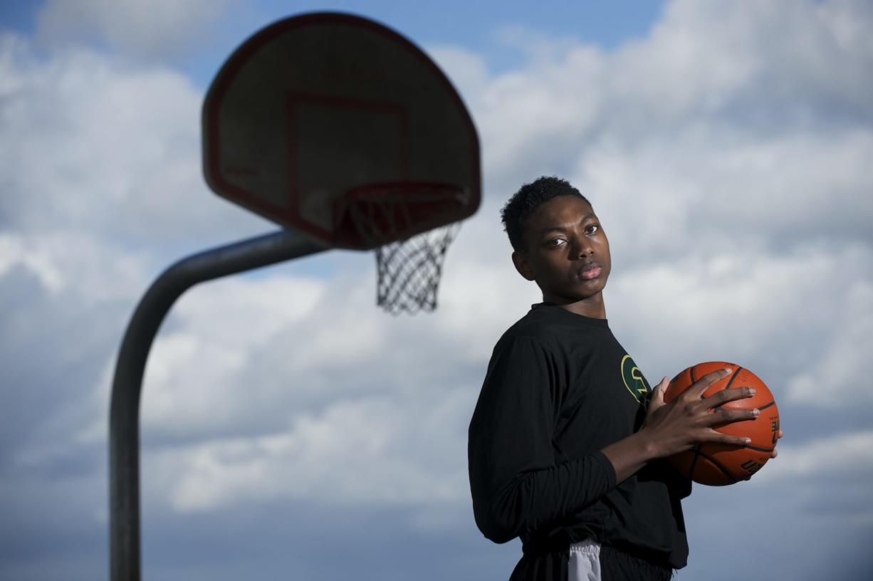 Evergreen High School's Robert Franks, shown, Thursday, March 20, 2014, is The Columbian's All-Region boys basketball player of the year.