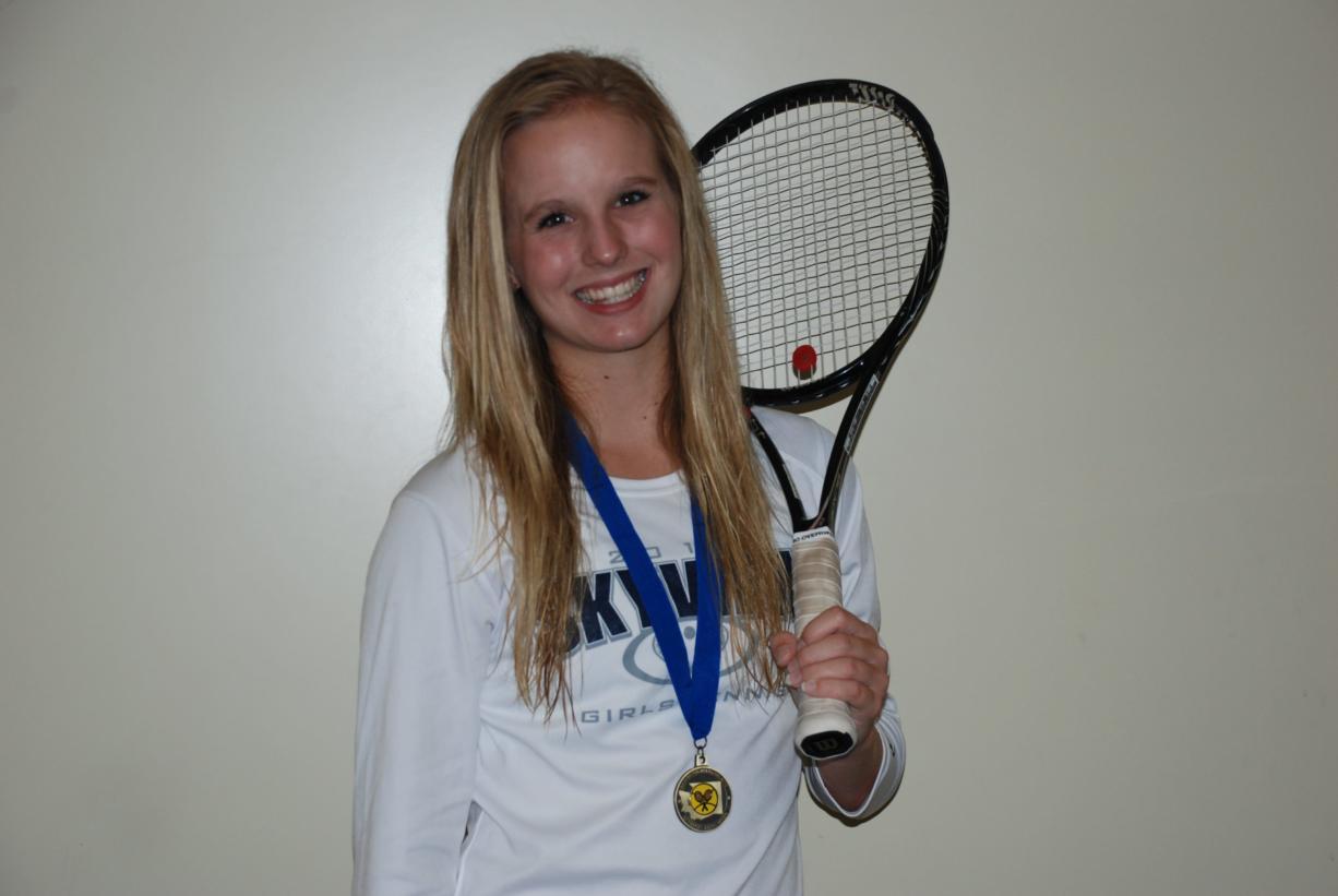 Skyview junior Sammi Hampton, three-time Class 4A state singles champion.