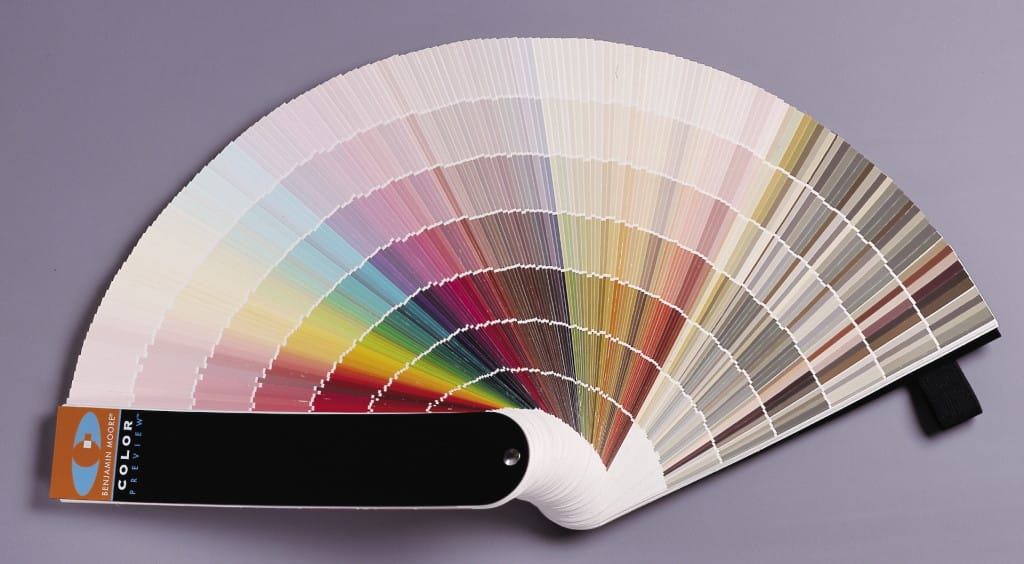 Benjamin Moore Consumers Use A Fan Deck Of Paint Colors To Help Them Decide What Color