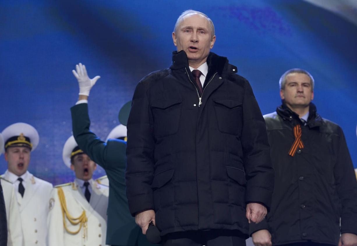 Putin Signs Treaty Adds Crimea To Map Of Russia Columbian Com