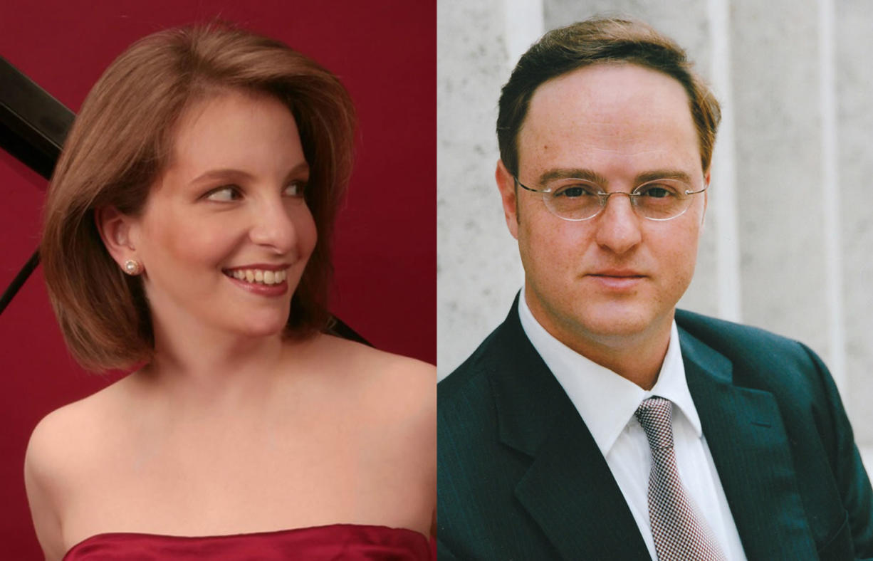 Orli Shaham, left, and Igal Kesselman will perform with the Vancouver Symphony on May 31 and June 1.