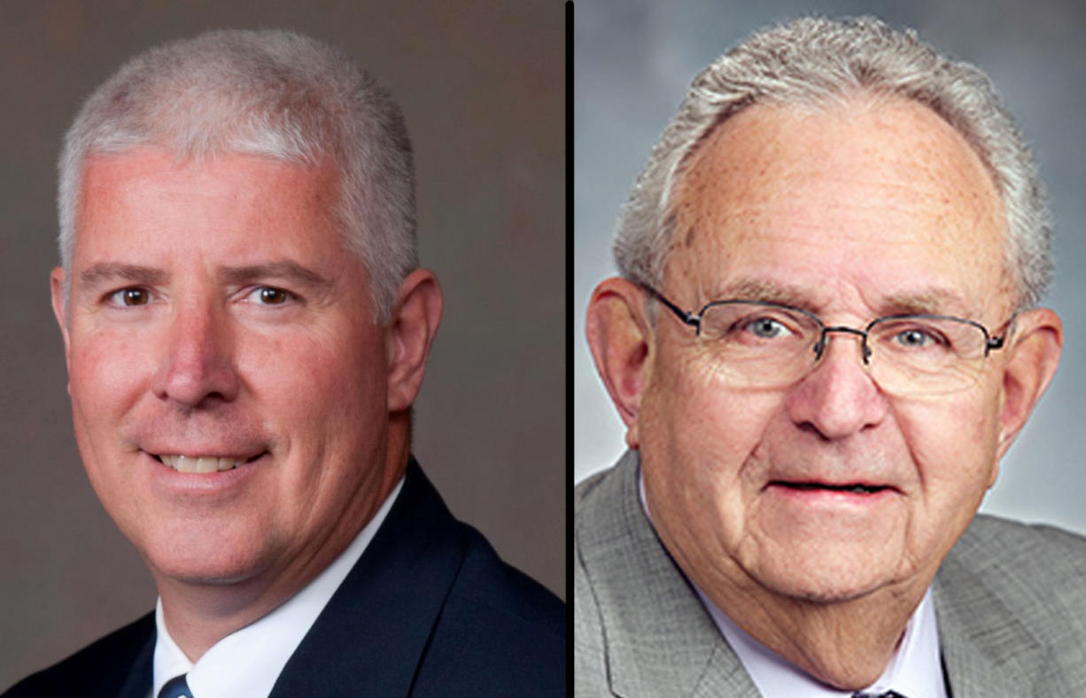 Michael Scott Brumback, left, picked up enough votes in a write-in campaign to challenge incumbent Rep.