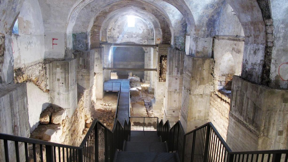 Archaeologists dug down through seven layers of Jerusalem history inside the Kishle, shown on Dec.