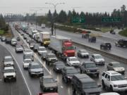 Traffic congestion is on the rise in the Vancouver area, according to a state report released Monday. Commuters racked up nearly 52,000 hours in delays in 2014, a 28 percent increase from 2012.