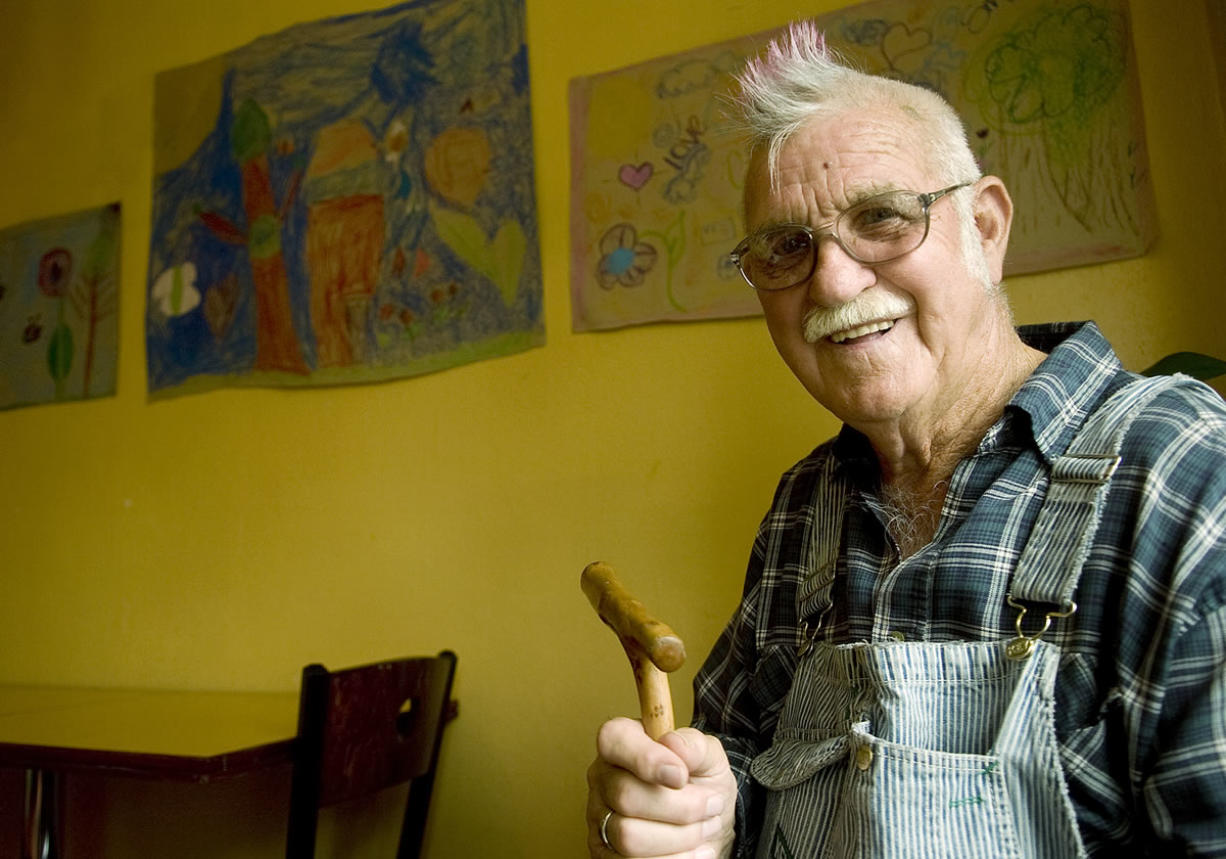 Hank Hayden of Ridgefield died last week at 89. He's pictured here sporting his famous mohawk in 2008.