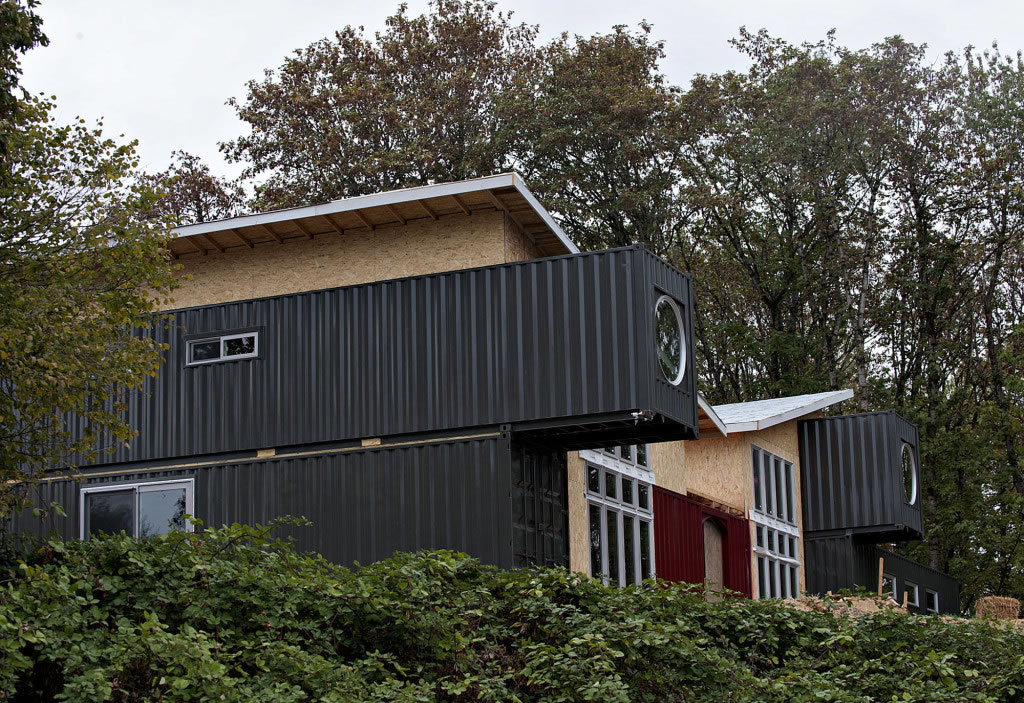 shipping container house home partially made from shipping containers rising in 11625