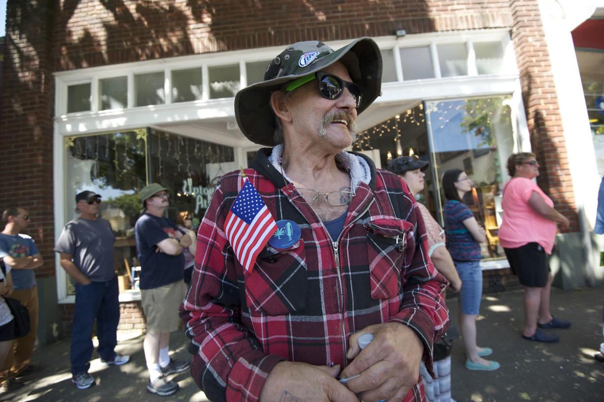 Dan Penticoff, 55, of Hazel Dell, was the third person to purchase marijuana from Main Street Marijuana when it opened on July 9.