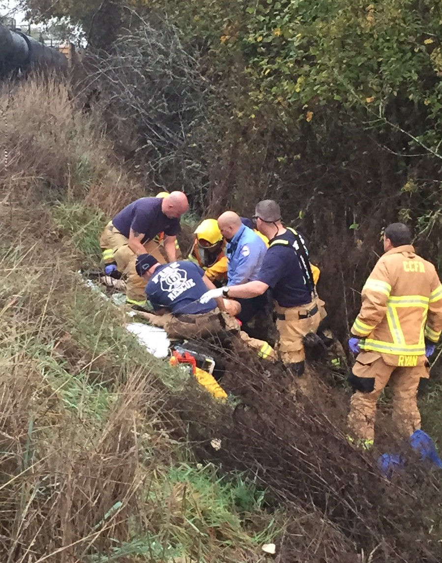 Emergency crews responded to a man struck by a train north of Felida early Tuesday morning. The man was taken to an area hospital in critical condition.