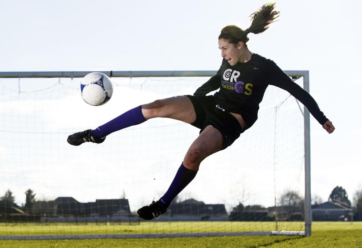 Columbia River's Ana Delgadillo is The Columbian's All-Region girls soccer player of the year.