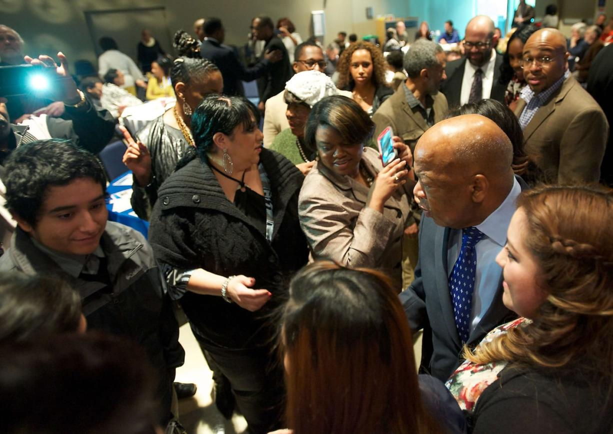 Rep. John Lewis attends the annual Martin Luther King Jr. Breakfast at Clark College on Saturday.
