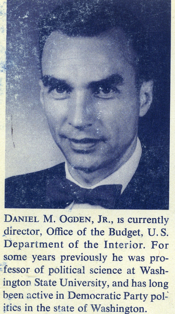 Jfk years in office Historical Dan Ogden On Back Cover Of quotelecting The Presidentquot Which He The Columbian Dan Ogden Paving The Way For Jfk The Columbian