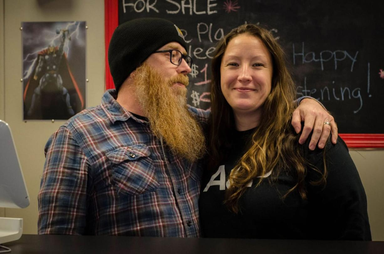 David and Miki Rodgers sell strictly vinyl records and related products at their store, 1709 Records.