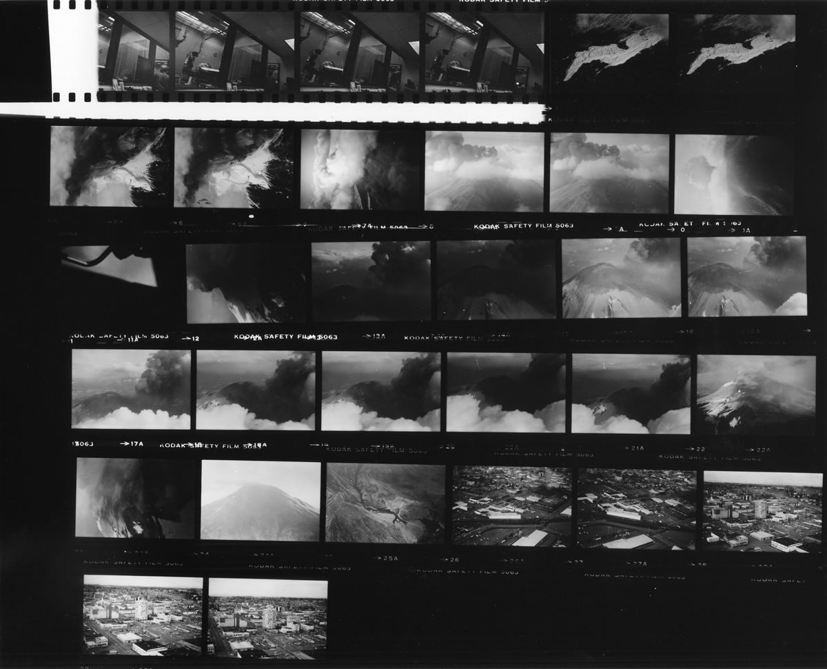 This is the contact sheet of a roll of film shot by Reid Blackburn in 1980 and developed recently.