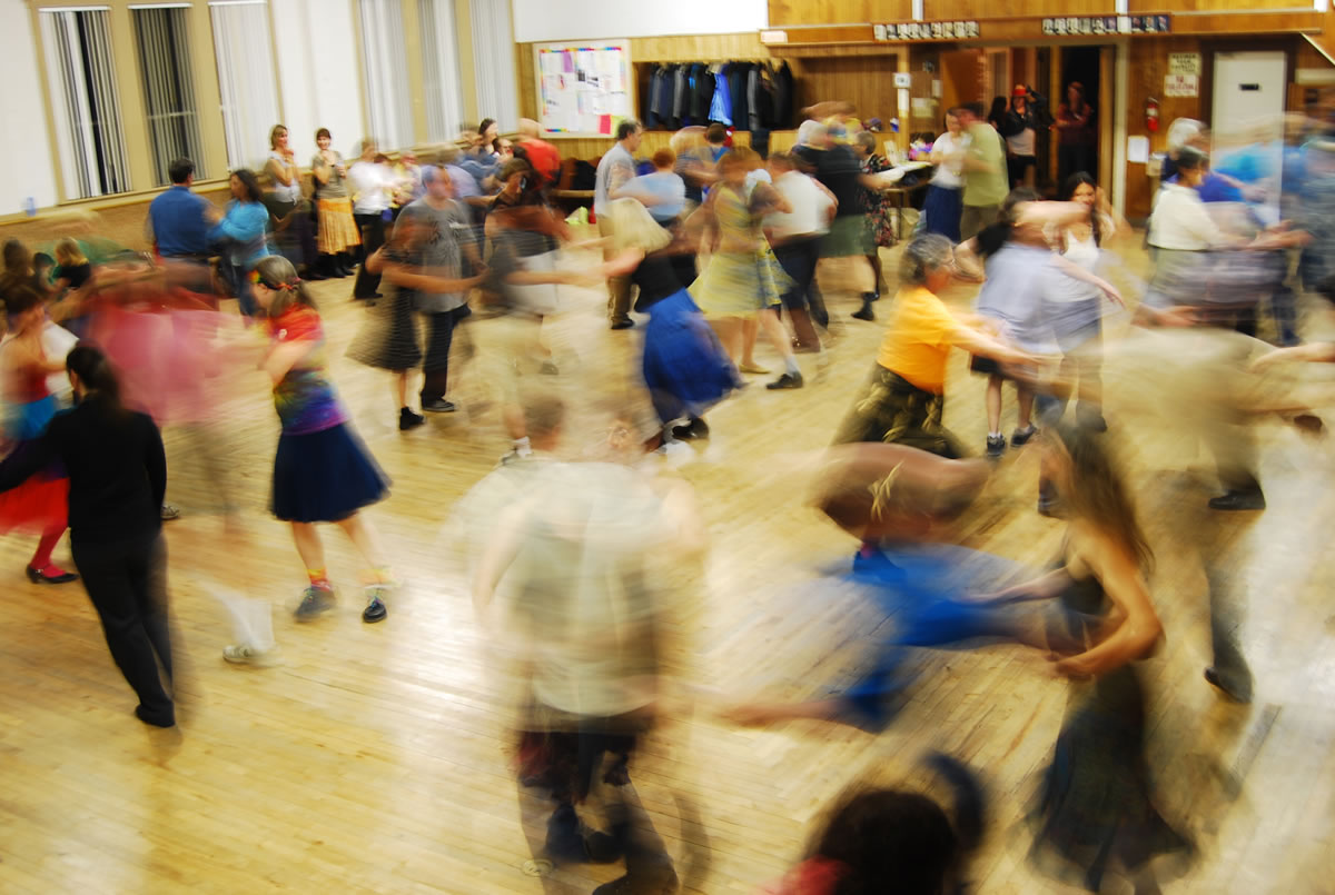 """""""Contra in The Couve"""" dance event happens June 10, 2011 at the The Hazel Dell Grange in Vancouver."""